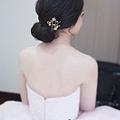 恬靜細膩低盤黑髮造型-Wedding女皇 簡珮瀠