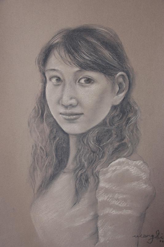 粉彩肖像1