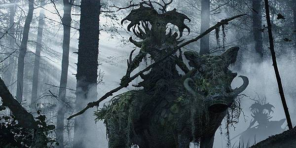 Moss hog with antlered ent rider - Maleficent