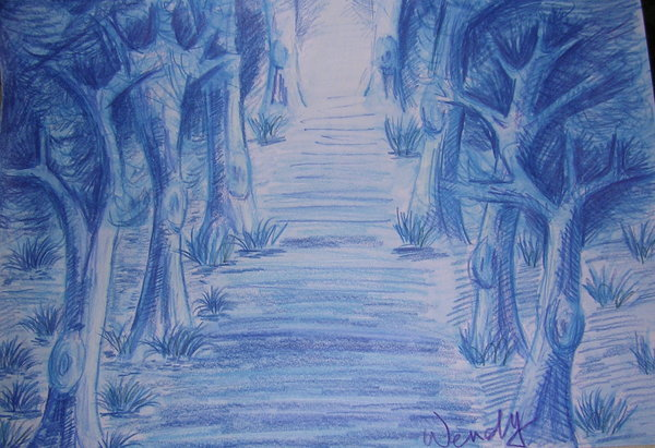 《水性色鉛筆》Blue Forest