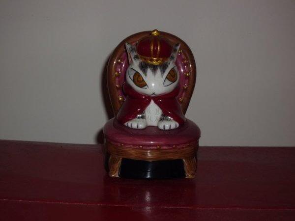 曰本Wachifield Dayan達洋貓罕有絕版皇帝立體陶瓷音樂座