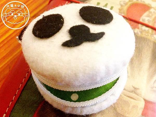熊貓抹茶馬卡龍