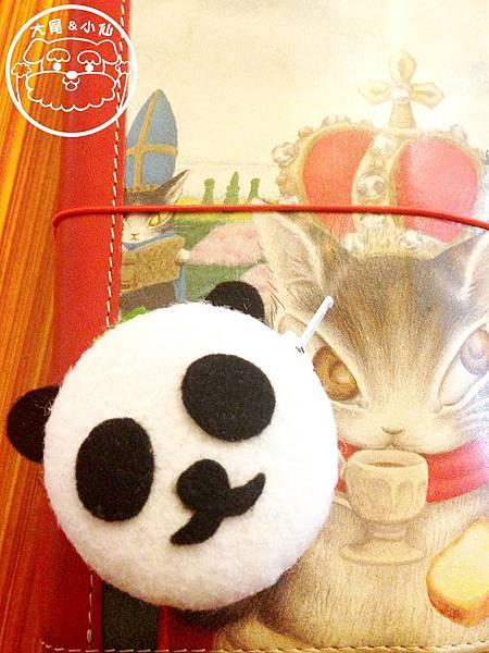 熊貓抹茶馬卡龍零錢包
