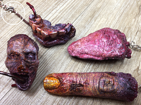 dead of the cadaver舌頭牙齒手指頭人頭