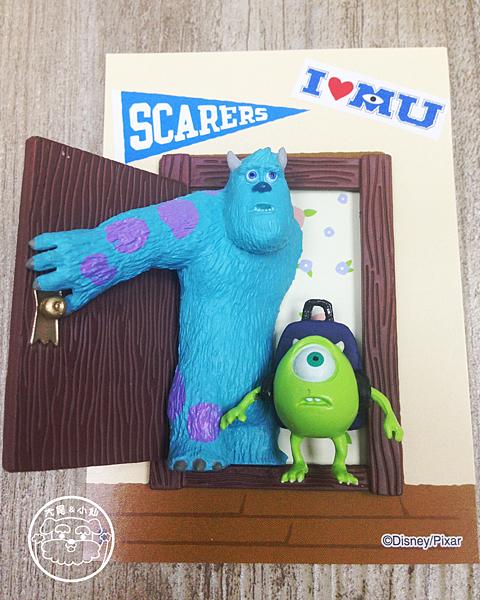 迪士尼pixar磁鐵怪獸大學開