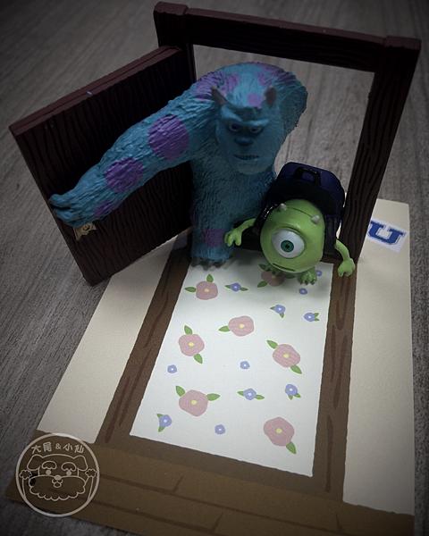 迪士尼pixar磁鐵怪獸大學毛怪大眼怪