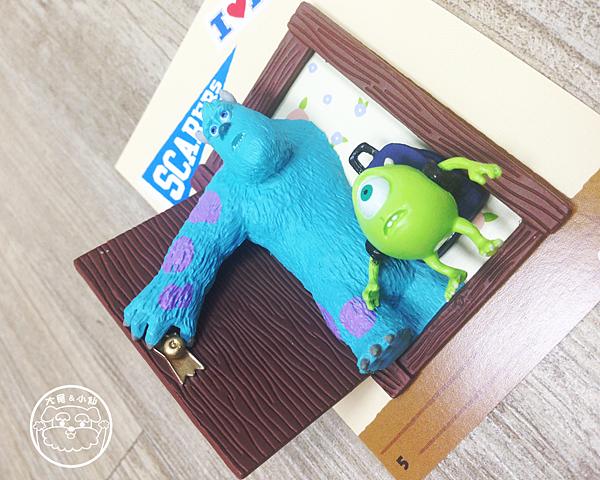 迪士尼pixar磁鐵怪獸大學毛怪和大眼怪