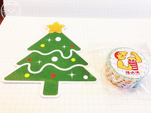 頂呱呱聖誕節卡片紙膠帶
