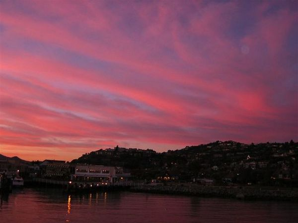Sunset glow at Tiburon