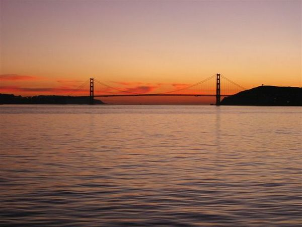 Sunset of Golden Gate