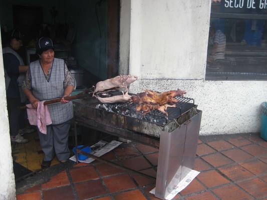 烤天竺鼠(Central Mercado, Banos)
