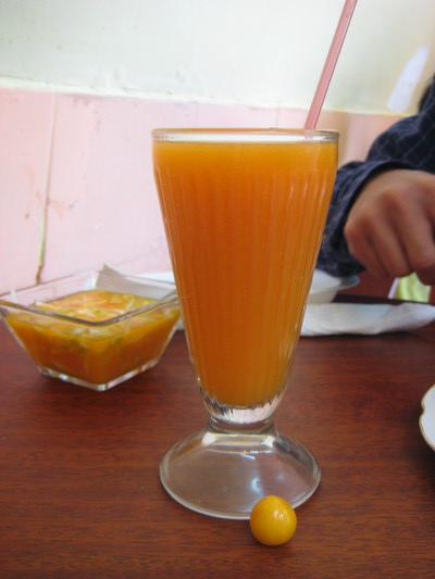 uchuva果汁(Cafeteria Fabiolita, Quito)