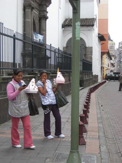賣甜奶油的小販(Quito)