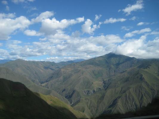 往Popayan的途中景色