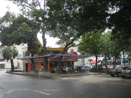 Medellin在安全島上的糕餅店