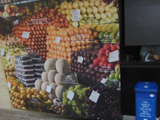 介紹各種水果的原產地(Medellin植物園cafe)