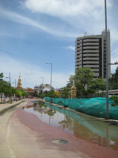 Outside Parque del Centenario