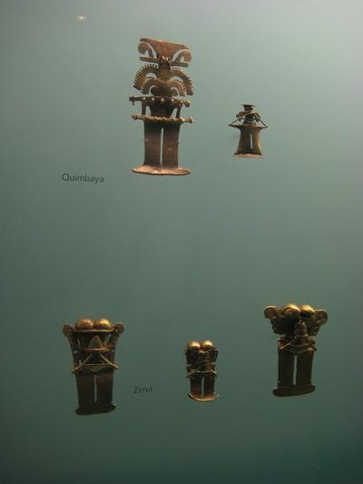 收藏此區原住民(Zenu)的金器工藝(Museo de Oro)