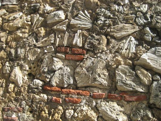 蓋城牆用了很多附近的珊瑚礁