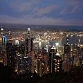 香港太平山上的夜景