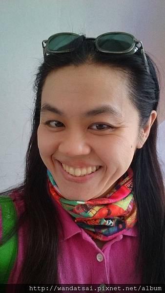 彩色方塊領巾
