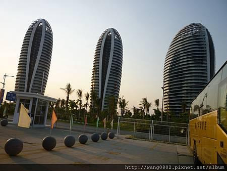 三亞郵輪碼頭外的特色建築