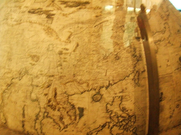 米蘭科學技術博物館的中世紀有趣地球儀之台灣在這耶