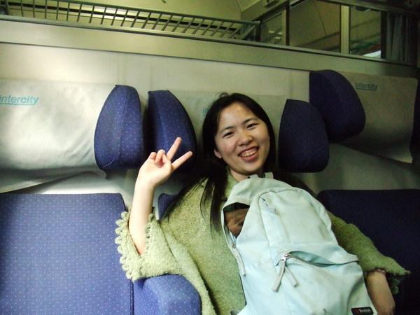 結束很趕的米蘭行程前往威尼斯的IC火車上之我累癱了