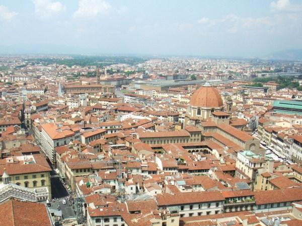 Duomo俯瞰翡冷翠市區美麗景色大連發之一