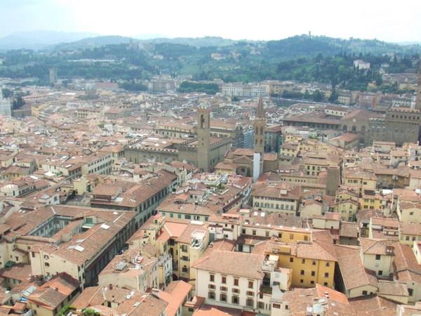 Duomo俯瞰翡冷翠市區美麗景色大連發之二