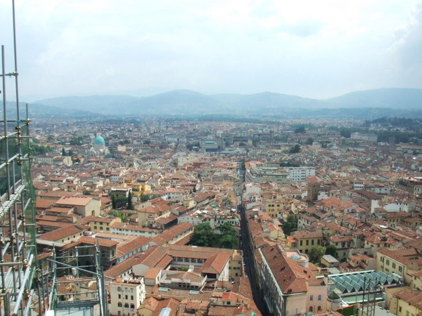 Duomo俯瞰翡冷翠市區美麗景色大連發之三