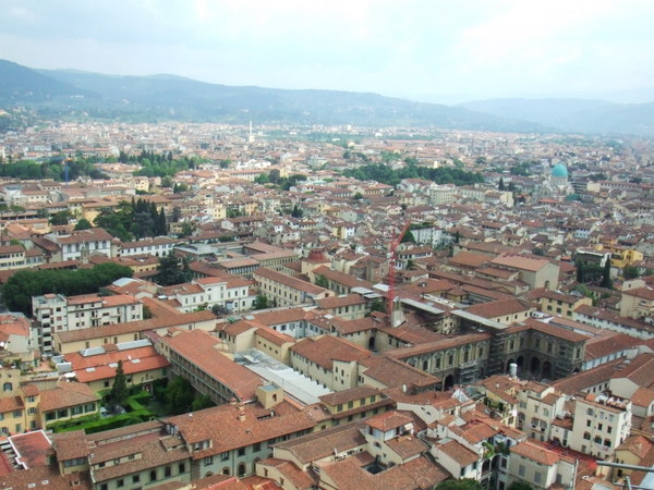 Duomo俯瞰翡冷翠市區美麗景色大連發之四