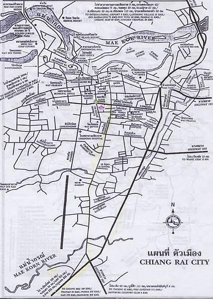 清萊市區地圖