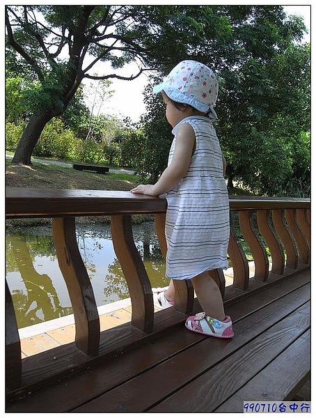 妞即使站在圍欄裡,還是想踏步去.jpg
