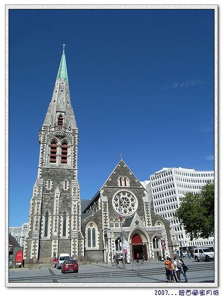 基督城-重要地標與精神象徵-高達63公尺的高聳尖塔及新歌德式英格蘭大教堂.jpg