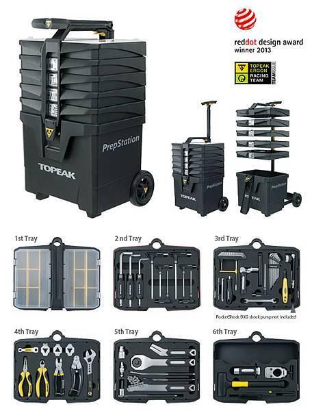 TOPEAK 自行車專業維修工具站 PrepStation 40項工具組