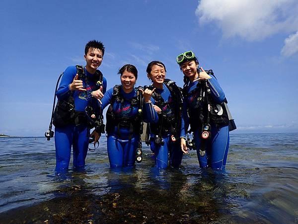香港客人來綠島體驗潛水