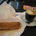 latte & hot dog