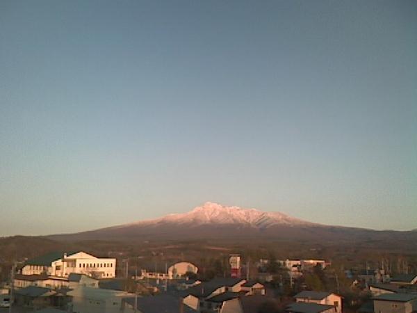 斜里岳的黃昏
