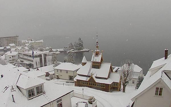 挪威小鎮 Balestrand 的冬天