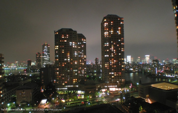 日本東京都 - 大川端河岸城21 (夜晚)
