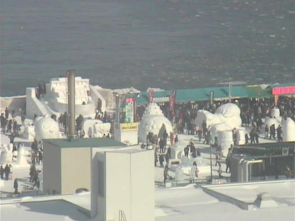 網走流冰祭會場