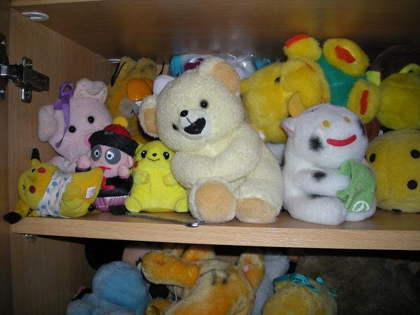 書櫃中的娃娃