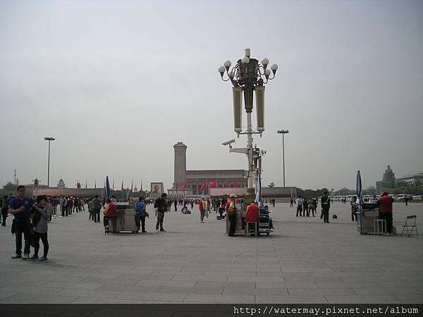 北京天安門廣場上特別的燈