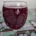 酒杯雕刻特寫