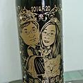 酒瓶雕刻特寫