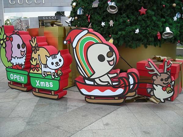 夢時代附近的聖誕樹下想的禮物