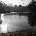 太陽在湖心發光