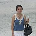 我在沙灘上