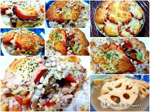 松子瑪麗蔬菜燒鳥焗烤飯